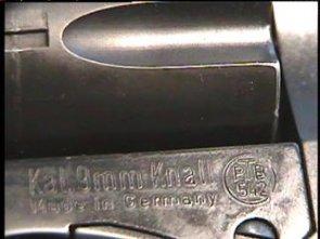 Маркировка рамки калибра 9mm Knall